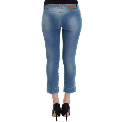 Beachwear Blue Jeans Capri Pants Cropped - Women - Apparel - Denim - Jeans - Ermanno Scervino | Gethuda Fashion