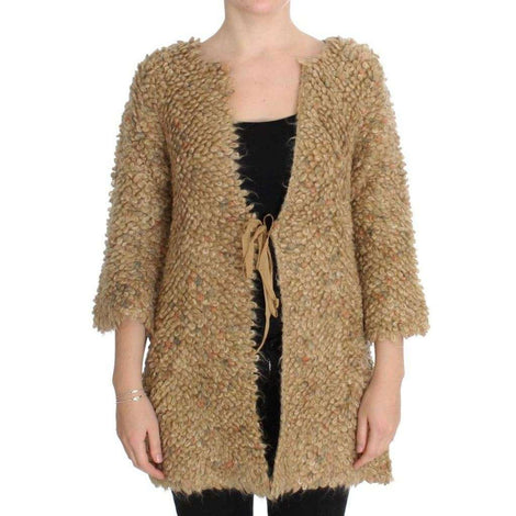 Beige Wool Blend Cape Sweater - Women - Apparel - Sweaters - Pull Over - PINK MEMORIES | Gethuda Fashion