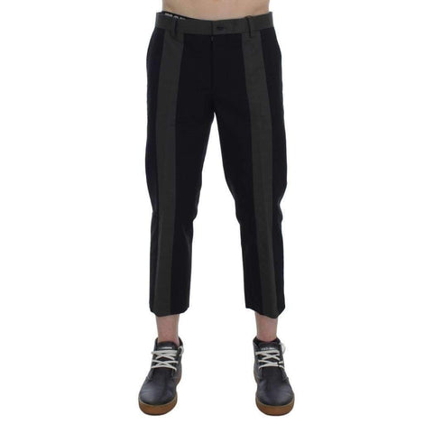 Black Green 3/4 Length Casual Pants - Men - Apparel - Trousers - Dolce & Gabbana | Gethuda Fashion