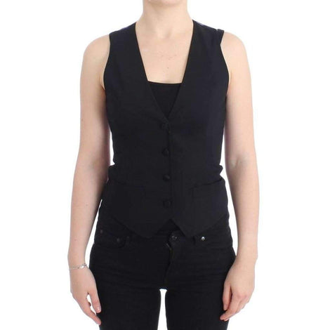 Dolce & Gabbana Black Leopard Vest - Women - Apparel - Suits - Classic - Dolce & Gabbana | Gethuda Fashion