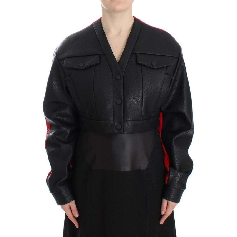 Black Short Croped Coat Bomber Jacket - Women - Apparel - Outerwear - Jackets - KAALE SUKTAE | Gethuda Fashion