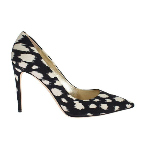 Blue White Stiletto Heels Pumps Shoes - Women - Shoes - Pumps - Fausto Puglisi | Gethuda Fashion