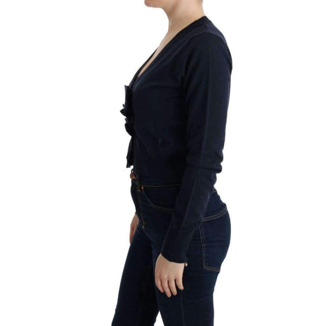 Blue Wool Blouse Sweater - Women - Apparel - Sweaters - Pull Over - MARGHI LO' | Gethuda Fashion