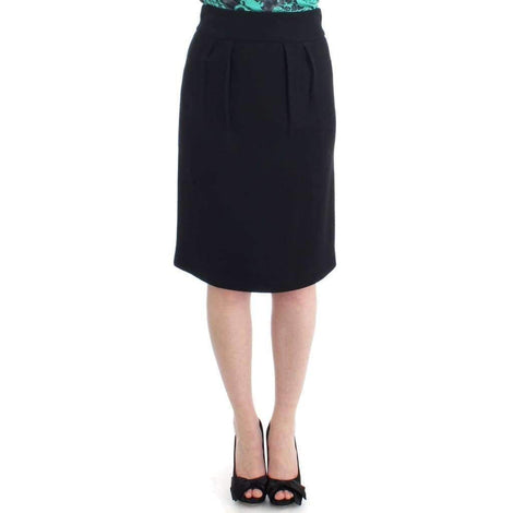 Black wool pencil skirt - Women - Apparel - Skirts - Pencil - Cavalli | Gethuda Fashion