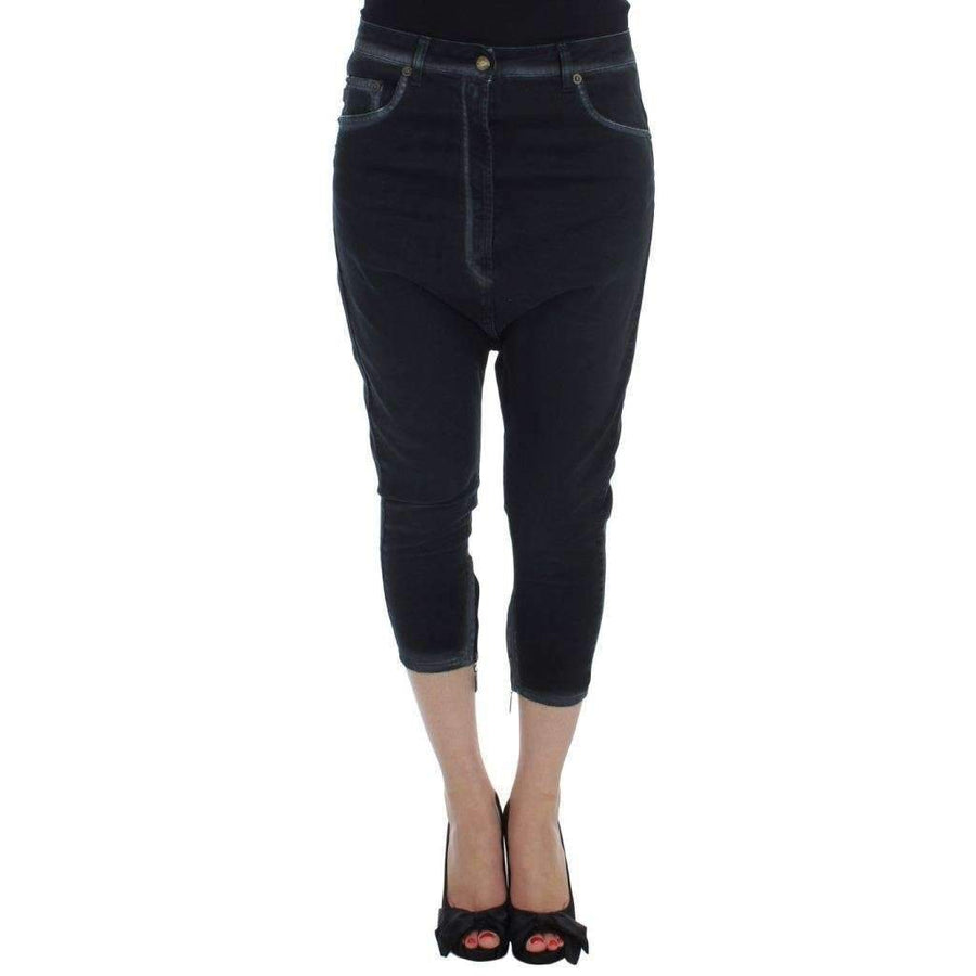 Blue Cotton Stretch Baggy Relax Jeans - Women - Apparel - Denim - Jeans - Cavalli | Gethuda Fashion