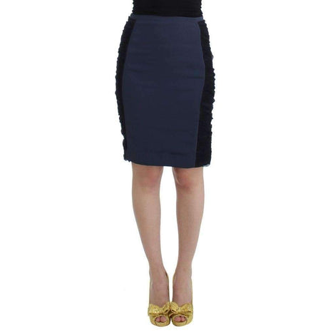 Blue pencil skirt - Women - Apparel - Skirts - Pencil - Cavalli | Gethuda Fashion