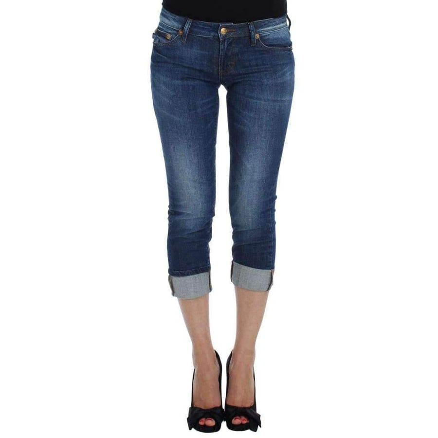 Blue Wash Cotton Stretch Slim Fit Jeans - Women - Apparel - Denim - Jeans - Cavalli | Gethuda Fashion
