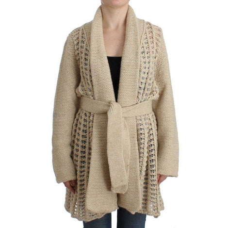 Beige cardigan heavy-weight sweater - Women - Apparel - Sweaters - Pull Over - Costume National | Gethuda Fashion