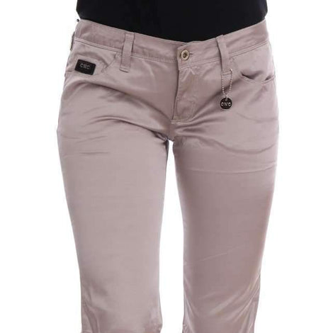 Beige Cotton Slim Fit Jeans - Women - Apparel - Denim - Jeans - Costume National | Gethuda Fashion