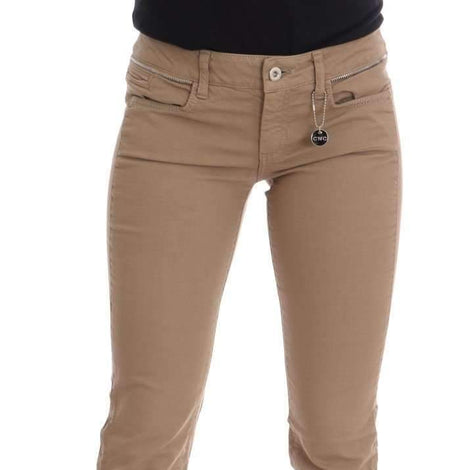 Beige Cotton Stretch Slim Fit Jeans - Women - Apparel - Denim - Jeans - Costume National | Gethuda Fashion
