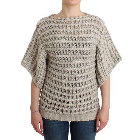 Beige short sleeved sweater - Women - Apparel - Sweaters - Pull Over - Costume National | Gethuda Fashion