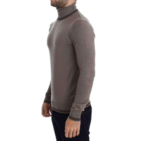 Beige Turtleneck Wool Blend Sweater - Men - Apparel - Sweaters - Pull Over - Costume National | Gethuda Fashion