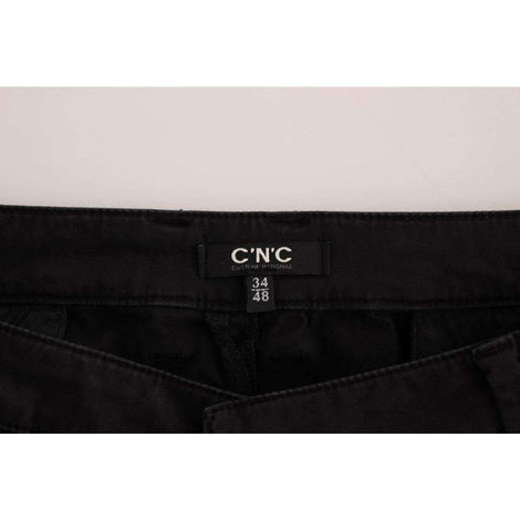Black cotton stretch casual pants - Men - Apparel - Trousers - Costume National | Gethuda Fashion