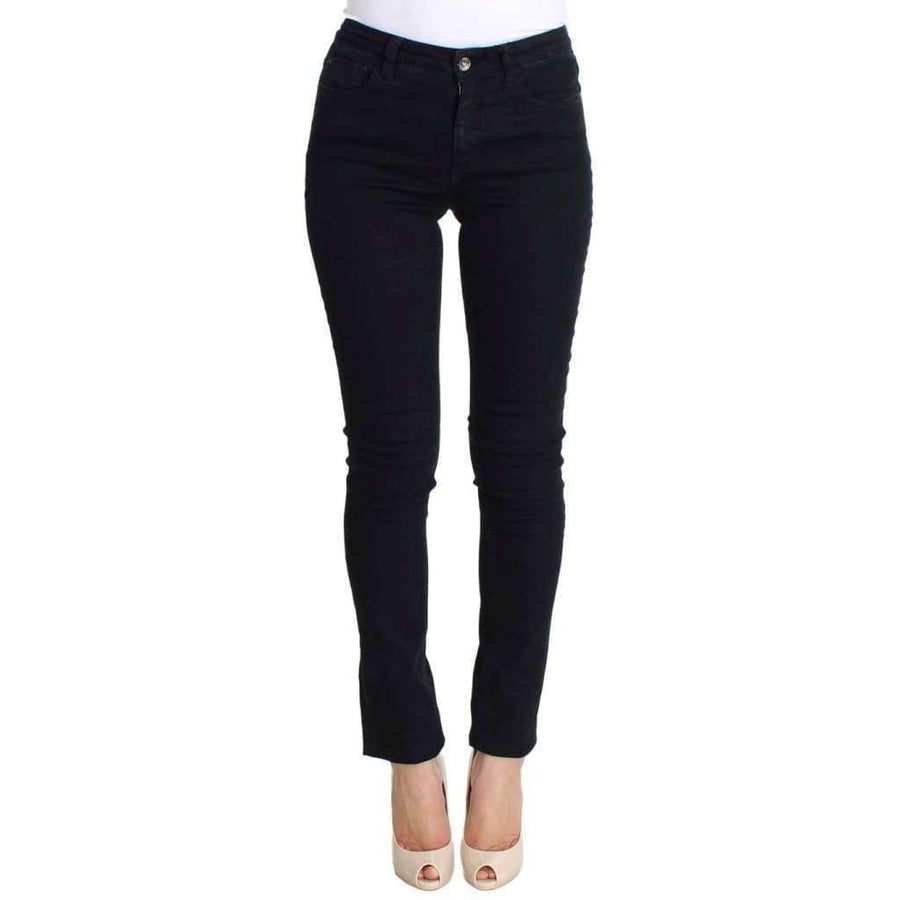 Black Cotton Stretch Slim Fit Jeans - Women - Apparel - Denim - Jeans - Costume National | Gethuda Fashion