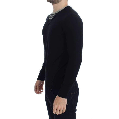 Black Crewneck Wool Blend Sweater - Men - Apparel - Sweaters - Pull Over - Costume National | Gethuda Fashion