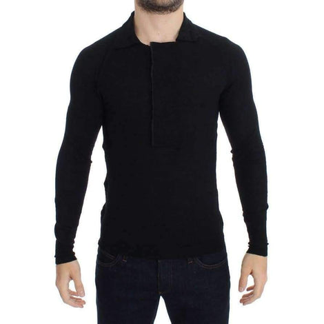 Black Fine Wool Polo-neck Sweater - Men - Apparel - Sweaters - Pull Over - Costume National | Gethuda Fashion