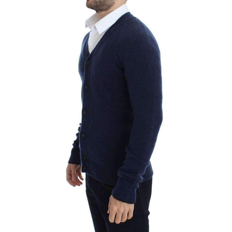 Blue Button Down Cardigan - Men - Apparel - Sweaters - Pull Over - Costume National | Gethuda Fashion