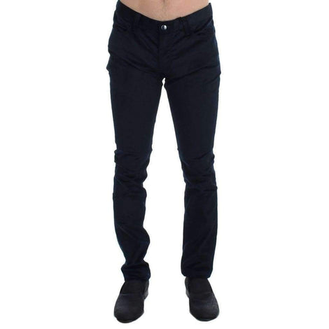 Blue Corduroy Slim Fit Pants Jeans - Men - Apparel - Trousers - Costume National | Gethuda Fashion