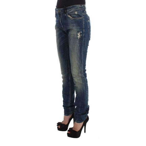 Blue Cotton Blend Straight Fit Jeans - Women - Apparel - Denim - Jeans - Costume National | Gethuda Fashion