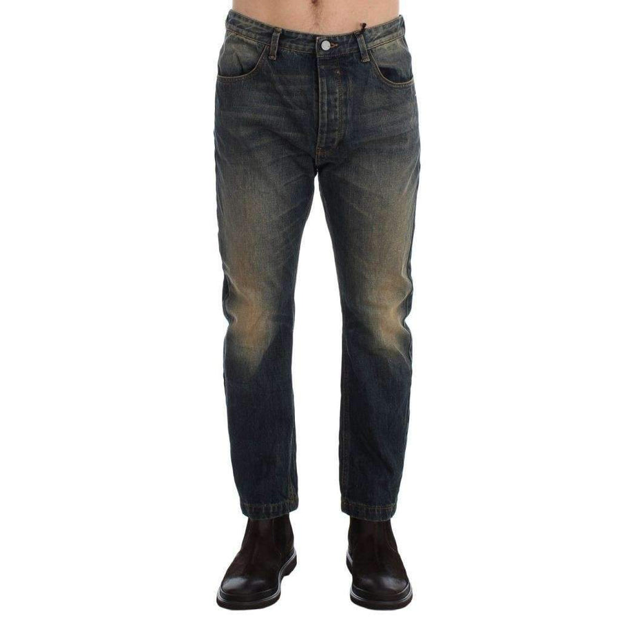 Blue Wash Chinos 50s Fit Cotton Jeans - Men - Apparel - Denim - Jeans - Costume National | Gethuda Fashion