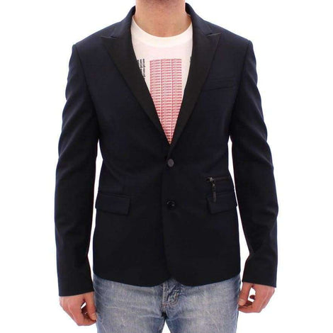 Costume National Blue Wool Two Button Blazer