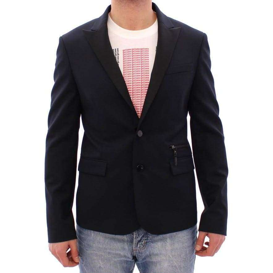 Blue wool two button blazer - Men - Apparel - Outerwear - Blazers - Costume National | Gethuda Fashion