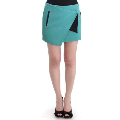 Blue wrap mini skirt - Women - Apparel - Skirts - Knee Length - Costume National | Gethuda Fashion