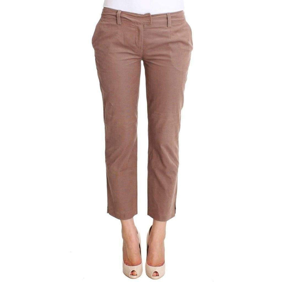 Brown Cropped Corduroys Pants - Women - Apparel - Denim - Jeans - Costume National | Gethuda Fashion