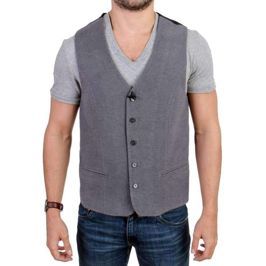 Gray cotton blend casual vest - Men - Apparel - Suits - Vest - Costume National | Gethuda Fashion