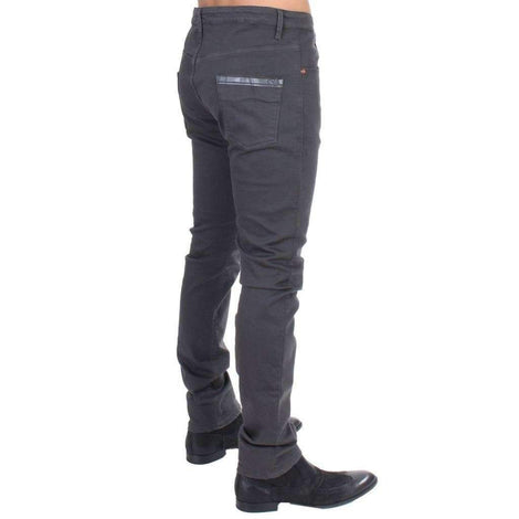 Gray cotton stretch slim fit jeans - Men - Apparel - Denim - Jeans - Costume National | Gethuda Fashion