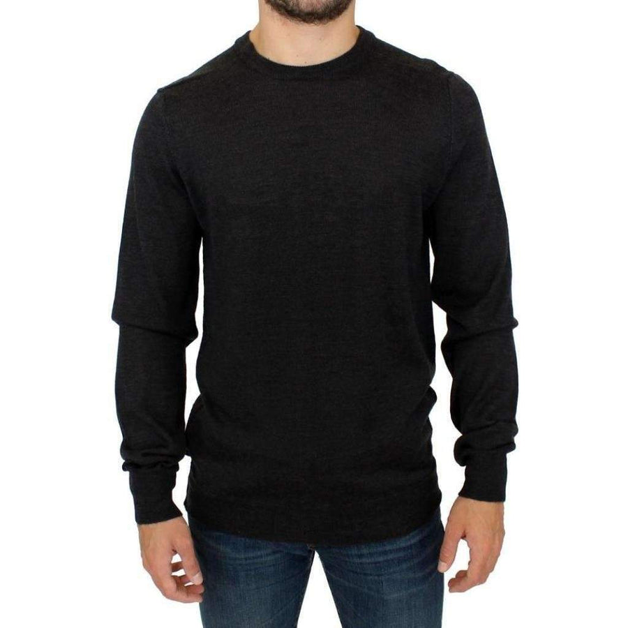 Gray crewneck pullover sweater - Men - Apparel - Sweaters - Pull Over - Costume National | Gethuda Fashion
