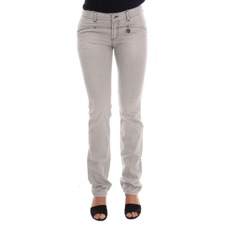 Gray Wash Cotton Slim Jeans - Women - Apparel - Denim - Jeans - Costume National | Gethuda Fashion