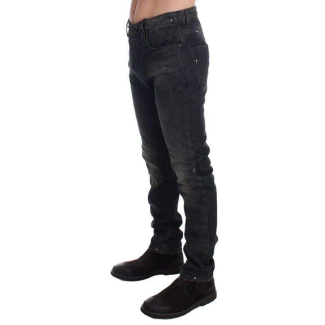 Gray Wash Slim Fit Cotton Denim Jeans - Men - Apparel - Denim - Jeans - Costume National | Gethuda Fashion