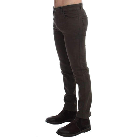 Green Slim Fit Cotton Stretch Denim Jeans - Men - Apparel - Denim - Jeans - Costume National | Gethuda Fashion