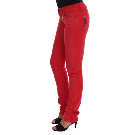 Red Cotton Stretch Slim Jeans - Women - Apparel - Denim - Jeans - Costume National | Gethuda Fashion