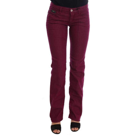 Red Wash Cotton Stretch Denim Jeans - Women - Apparel - Denim - Jeans - Costume National | Gethuda Fashion