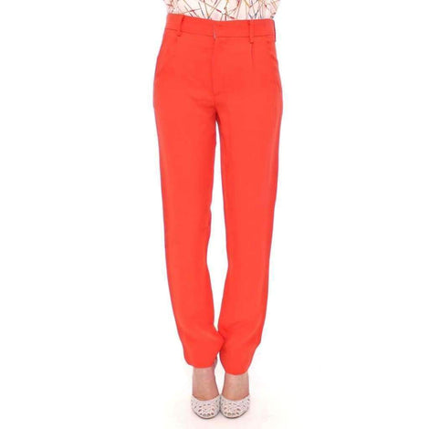 CO|TE Orange boyfriend stretch pants