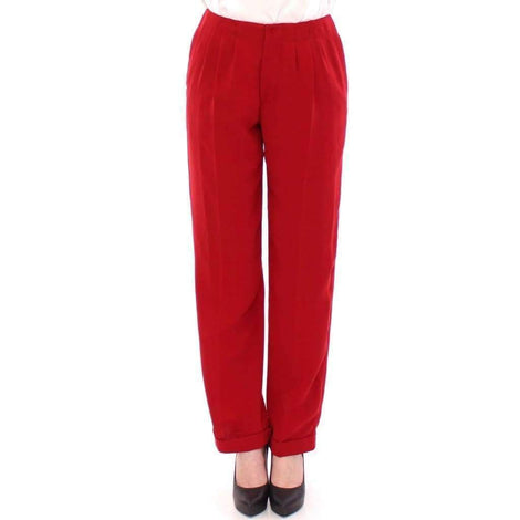 CO|TE Red wool straight dress pants