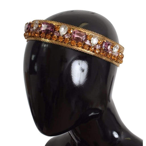 Dolce & Gabbana Crown Gold-plated Crystal Sicily GEMME Tiara Headband - Women - Accessories - Hair Accessories - Headbands - Dolce & Gabbana | Gethuda Fashion