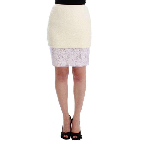 White Pencil Lace Skirt - Women - Apparel - Skirts - Pencil - DAIZY SHELY | Gethuda Fashion