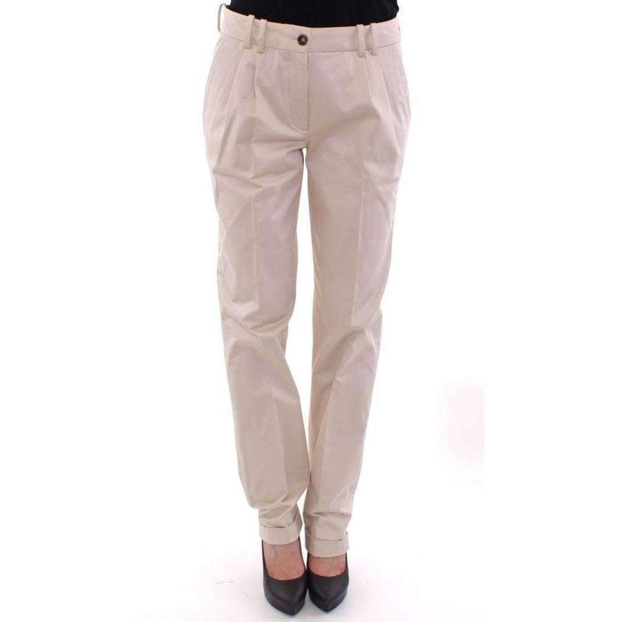 Dolce & Gabbana Beige Cotton Chinos Pants - Women - Apparel - Denim - Jeans - Dolce & Gabbana | Gethuda Fashion