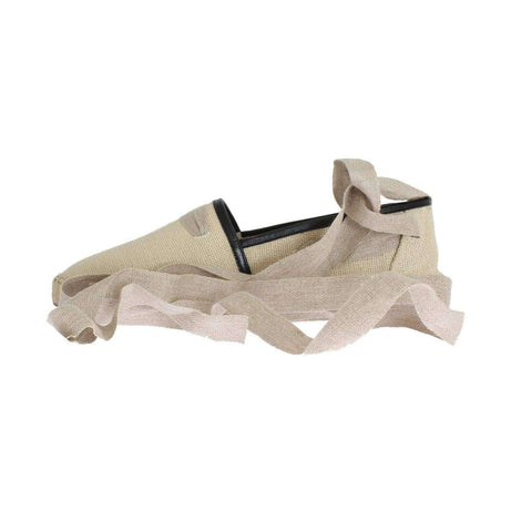 Dolce & Gabbana Beige Leather Canvas Strap Loafers - Men - Shoes - Loafers Drivers - Dolce & Gabbana | Gethuda Fashion