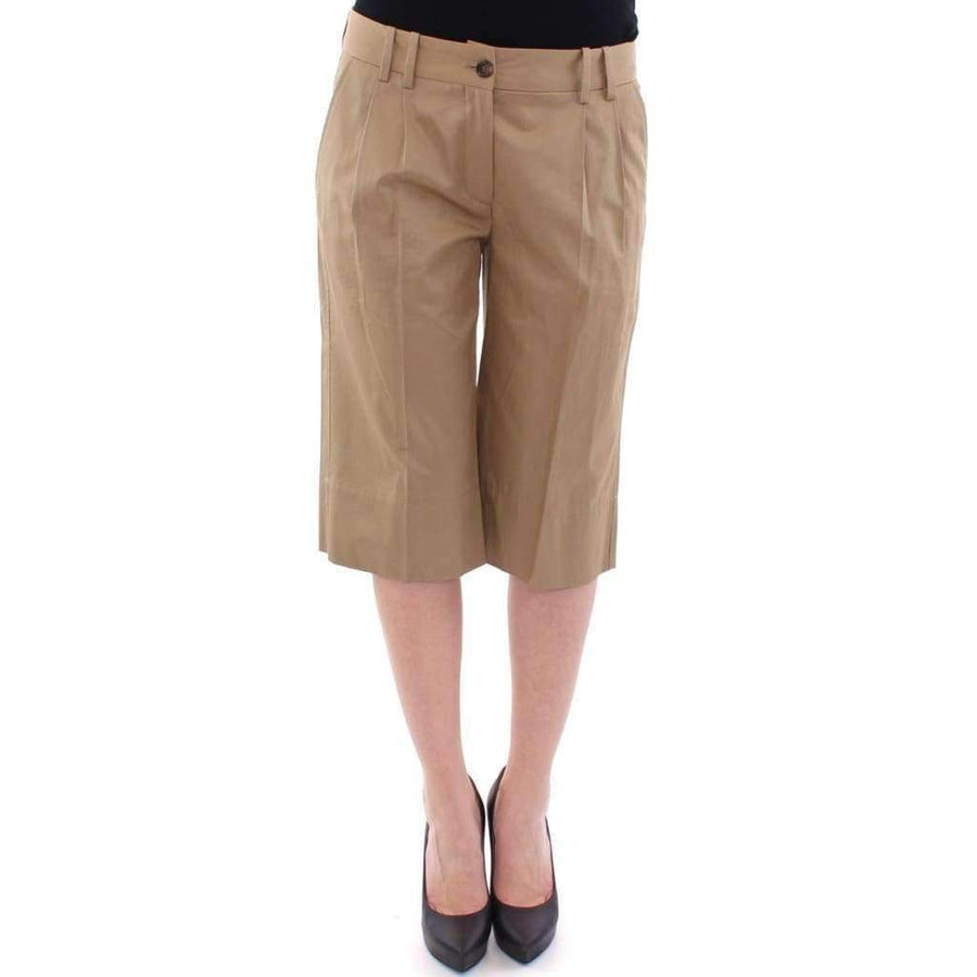 Dolce & Gabbana Beige Solid Cotton Shorts Pants - Women - Apparel - Shorts - Casual - Dolce & Gabbana | Gethuda Fashion
