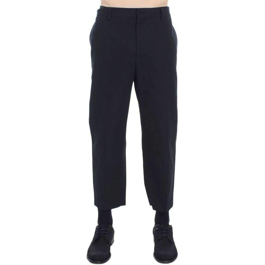 Dolce & Gabbana Black 3/4 Length Casual Pants - Men - Apparel - Trousers - Dolce & Gabbana | Gethuda Fashion
