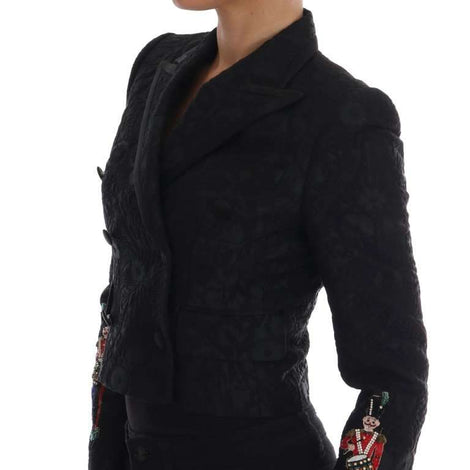 Dolce & Gabbana Black Brocade Blazer Jacket - Women - Apparel - Suits - Classic - Dolce & Gabbana | Gethuda Fashion