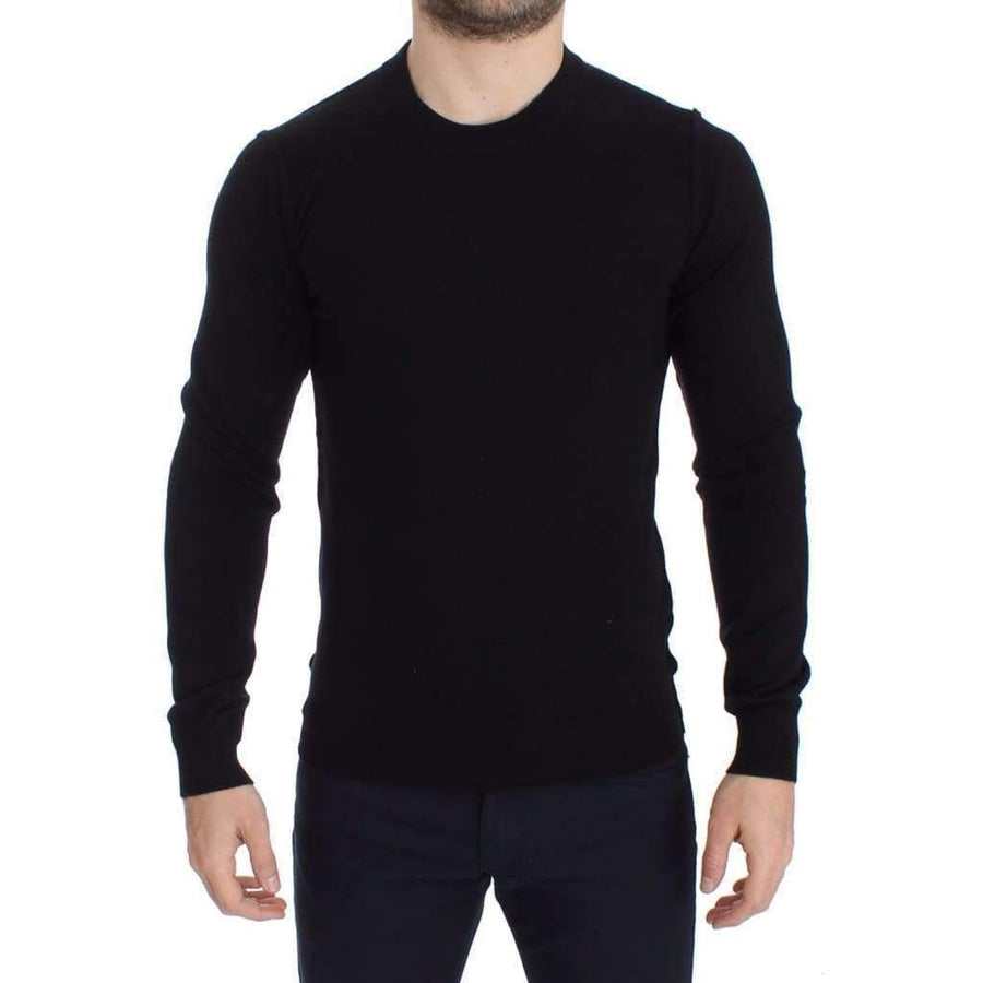 Dolce & Gabbana Black Cashmere Crew-neck Sweater Pullover Top - Men - Apparel - Sweaters - Pull Over - Dolce & Gabbana | Gethuda Fashion