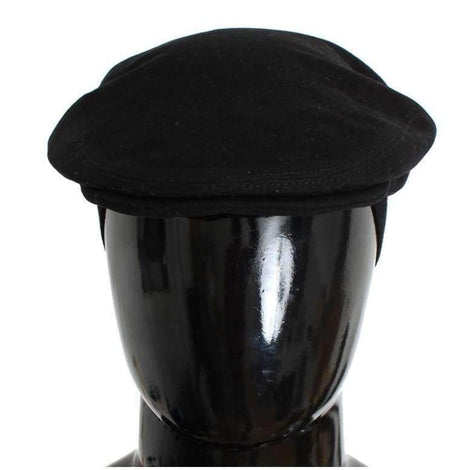 Dolce & Gabbana Black Cotton Newsboy Cap - Men - Accessories - Hats - Dolce & Gabbana | Gethuda Fashion