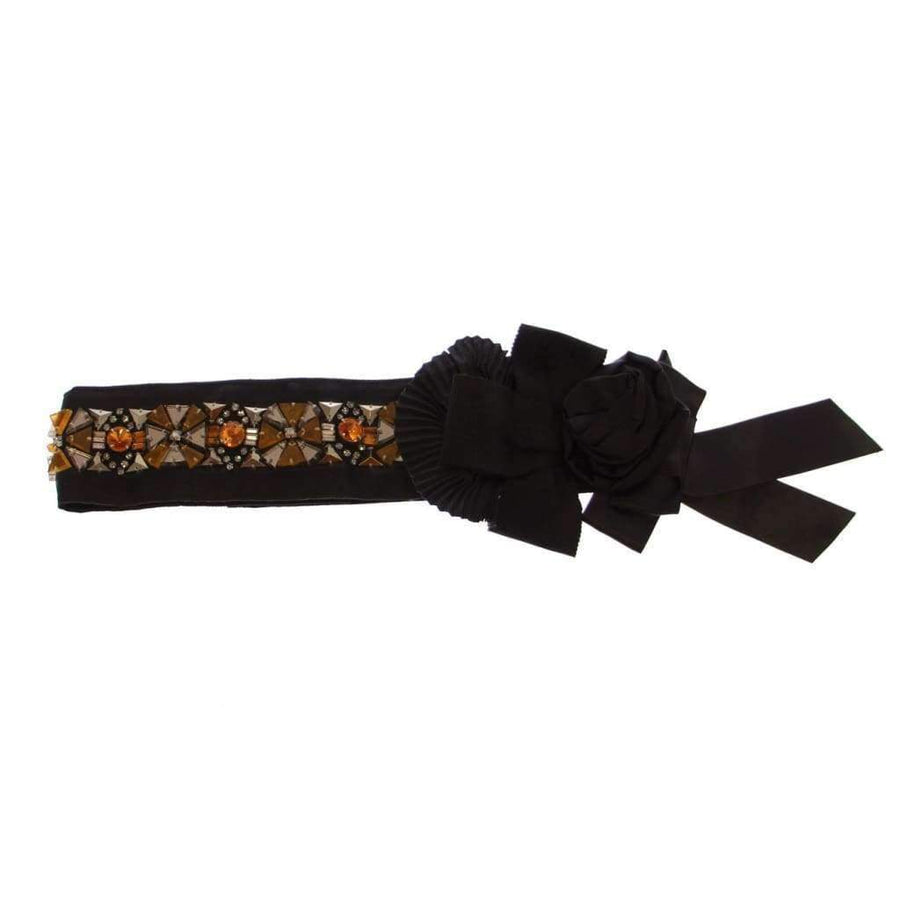 Dolce & Gabbana Black Crystal SPECIAL PIECE Waist Belt - Women - Accessories - Belts - Dolce & Gabbana | Gethuda Fashion