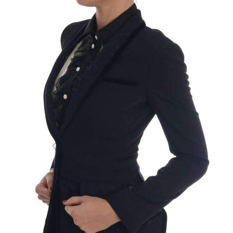 Dolce & Gabbana Black Floral Brocade Blazer Jacket - Women - Apparel - Suits - Classic - Dolce & Gabbana | Gethuda Fashion
