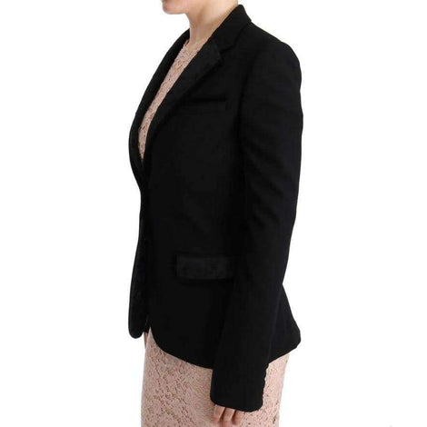 Dolce & Gabbana Black Floral Jacquard Slim Blazer - Women - Apparel - Suits - Classic - Dolce & Gabbana | Gethuda Fashion